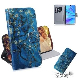 Apricot Flower Pattern Coloured Drawing Horizontal Flip Leather Case for Huawei P30 Lite / Nova 4e, with Holder & Card Slots & Wallet