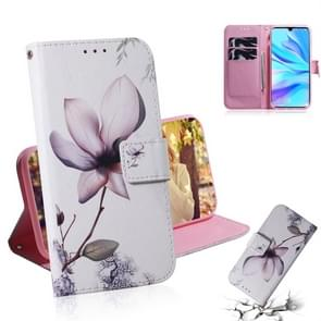 Magnolia Flower Pattern Coloured Drawing Horizontal Flip Leather Case for Huawei P30 Lite / Nova 4e, with Holder & Card Slots & Wallet