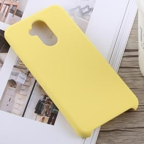 Solid Color Full Coverage Liquid Silicone Back Case for Huawei Mate 20 Lite (Yellow)