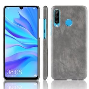 Shockproof Litchi Texture PC + PU Protective Case for Huawei P30 Lite (Grey)