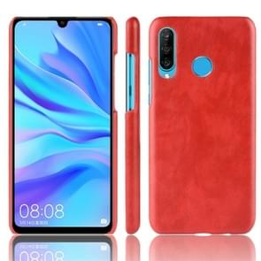 Shockproof Litchi Texture PC + PU Protective Case for Huawei P30 Lite (Red)