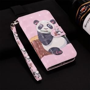 Panda Pattern Colored Drawing Horizontal Flip Leather Case for Huawei P30 Pro, with Holder & Card Slots & Wallet & Lanyard