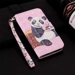 Panda Pattern Colored Drawing Horizontal Flip Leather Case for Huawei P30 Lite, with Holder & Card Slots & Wallet & Lanyard