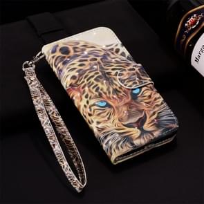 Leopard Pattern Colored Drawing Horizontal Flip Leather Case for Huawei P30 Lite, with Holder & Card Slots & Wallet & Lanyard