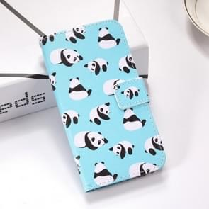 Pandas Pattern Colored Drawing Horizontal Flip Leather Case for Huawei Mate 20 Lite, with Holder & Card Slots & Wallet & Lanyard