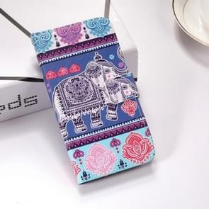 Elephant Pattern Colored Drawing Horizontal Flip Leather Case for Huawei Mate 20 Lite, with Holder & Card Slots & Wallet & Lanyard