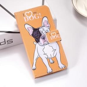 Dog Pattern Colored Drawing Horizontal Flip Leather Case for Huawei Mate 20 Lite, with Holder & Card Slots & Wallet & Lanyard