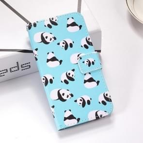 Pandas Pattern Colored Drawing Horizontal Flip Leather Case for Huawei Mate 20 X, with Holder & Card Slots & Wallet & Lanyard