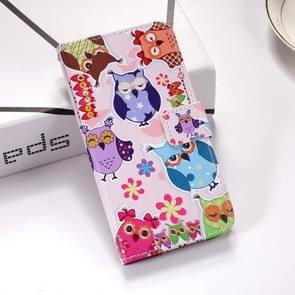 Colorful Owl Pattern Colored Drawing Horizontal Flip Leather Case for Huawei Mate 20 X, with Holder & Card Slots & Wallet & Lanyard