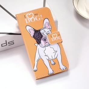 Dog Pattern Colored Drawing Horizontal Flip Leather Case for Huawei P30, with Holder & Card Slots & Wallet & Lanyard