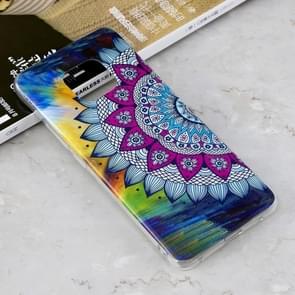 Lichtgevende kleurrijke zon bloem patroon schokbestendige TPU beschermende case voor Huawei mate 20 Pro