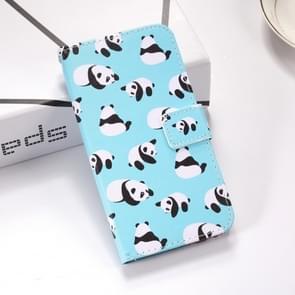 Panda's patroon gekleurde tekening horizontale Flip lederen case voor Huawei P30 lite  met houder & card slots & portemonnee & Lanyard
