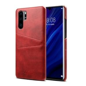 Suteni Calf Texture Protective Case for Huawei P30 Pro, with Card Slots (Red)