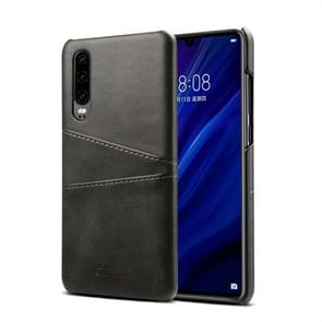 Suteni Calf Texture Protective Case for Huawei P30, with Card Slots (Black)