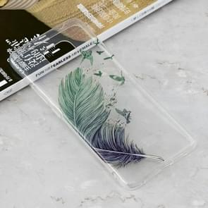 Feather Pattern Transparent Clear TPU Case for Huawei Mate 20 Pro