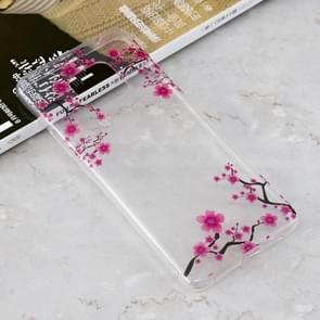 Plum Blossom Pattern Transparent Clear TPU Case for Huawei Mate 20 Pro