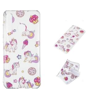 Unicorn Pattern Highly Transparent TPU Protective Case for Huawei P30 Lite