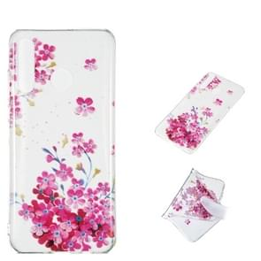 Red Plum Blossom Pattern Highly Transparent TPU Protective Case for Huawei P30 Lite