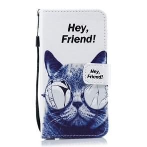 Cat Pattern Horizontal Flip Leather Case for Huawei P30 Lite, with Holder & Card Slots & Wallet