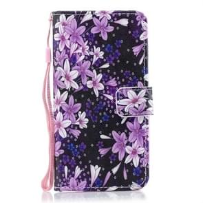 Lily Pattern Horizontal Flip Leather Case for Huawei P30 Lite, with Holder & Card Slots & Wallet