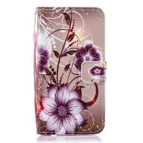 Lotus Pattern Horizontal Flip Leather Case for Huawei P30 Lite, with Holder & Card Slots & Wallet