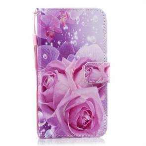 Rose Pattern Horizontal Flip Leather Case for Huawei P30 Lite, with Holder & Card Slots & Wallet