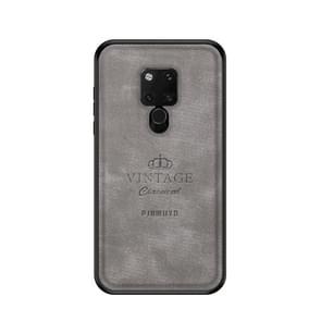 PINWUYO Anti-wrestling Waterproof Full Coverage PC Case for Huawei Mate 20 X(Grey)
