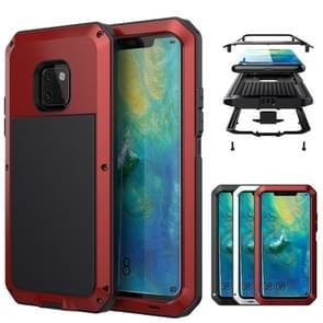 Tank waterdichte stofdichte schokbestendige aluminiumlegering + siliconen case voor Huawei mate 20 Pro (rood)
