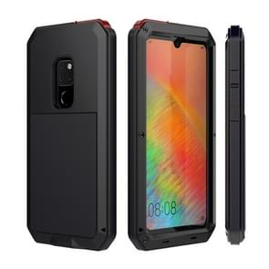 Tank Waterproof Dustproof Shockproof Aluminum Alloy + Silicone Case for Huawei Mate 20 (Black)