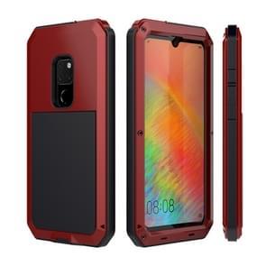 Tank waterdichte stofdichte schokbestendige aluminiumlegering + siliconen case voor Huawei mate 20 (rood)