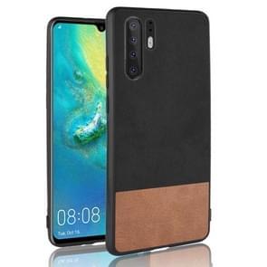 Schokbestendige kleurovereenkomst Denim PC + PU + TPU Case voor Huawei P30 Pro (zwart)