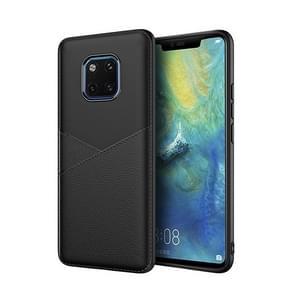 Ultra-dunne schokbestendige zachte TPU + lederen Case voor Huawei Mate 20 Pro (zwart)