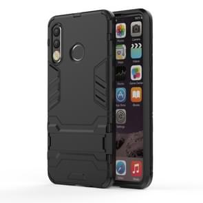 Shockproof PC + TPU Case for Huawei P30 Lite, with Holder(Black)