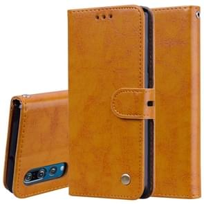 Business Style Oil Wax Texture Horizontal Flip Leather Case for Huawei P30, with Holder & Card Slots & Wallet (Brown)