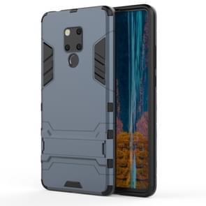 Schokbestendige PC + TPU Case voor Huawei mate 20 X  met houder (marineblauw)