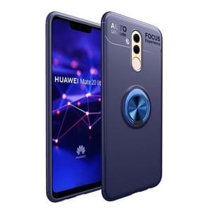 Schokbestendige TPU geval voor Huawei mate 20 lite  met houder (blauw)