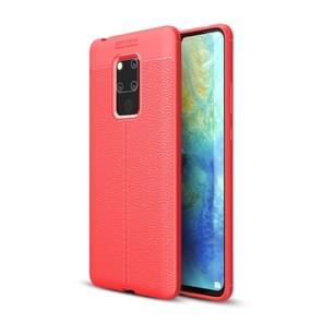 Litchi textuur TPU schokbestendig geval voor Huawei mate 20 X (rood)