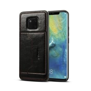 Dibase TPU + PC + PU Crazy Horse Texture Protective Case for Huawei Mate 20 Pro, with Holder & Card Slots(Black)