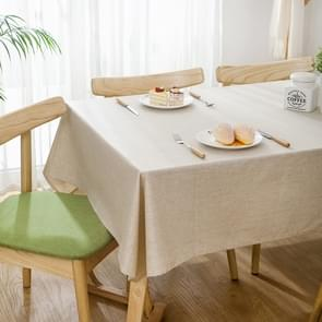 Modern Concise Waterproof Flax Rectangle Home Hotel Table Cloth, Size: 120*120cm(Beige)