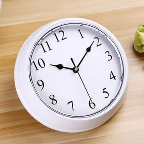 Home Office Silent Non Ticking 9.5 inch Round Wall Quartz Clock (White)