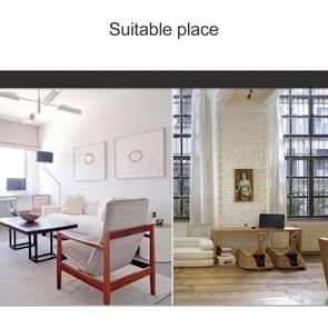 Thuiskantoor kamer moderne Silent niet tikt 12 inch ronde decoratieve Quartz Wandklok (zilver)