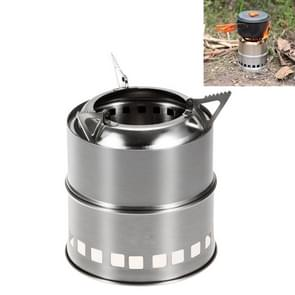 Outdoor Camping Mini Stainless Steel Wood-burning Stove Solid alcohol Stove for Picnic Heating