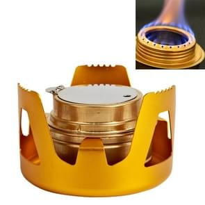 Portable Outdoor Mountaineering Camping Survival Stainless Steel Alcohol Stove Burner, Random Color Delivery