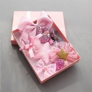 10 PCS Cute Children Headwear Hair Clip Set(roze)