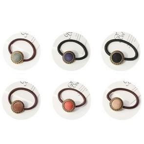 20 PCS Retro kleding Button Style Elastic Rubber Hair Band Random Kleur Delivery