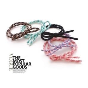 20 PCS Strik style Dual Elastic Rubber Hair Band Ring Random Kleur Delivery