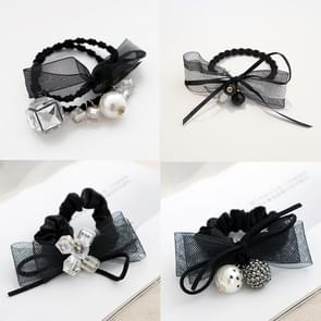 10 PCS Lace Strik Style Elastic Rubber Hair Band Ring