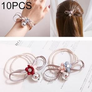 10 PCS Sweet Bloemen Style Elastic Rubber Hair Band Ring Random Kleur Delivery