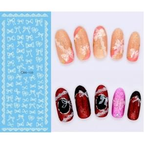 DS116-134 5 PCS 13 Patterns DIY Design Beauty Water Transfer Harajuku Nails Art Sticker Nail Art Decoration Accessories, Random Color Delivery,Without Nails