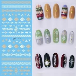 DS358-366 5 PCS 9 Patterns DIY Design Beauty Water Transfer Harajuku Nails Art Sticker Nail Art Decoration Accessories, Random Color Delivery, Without Nails
